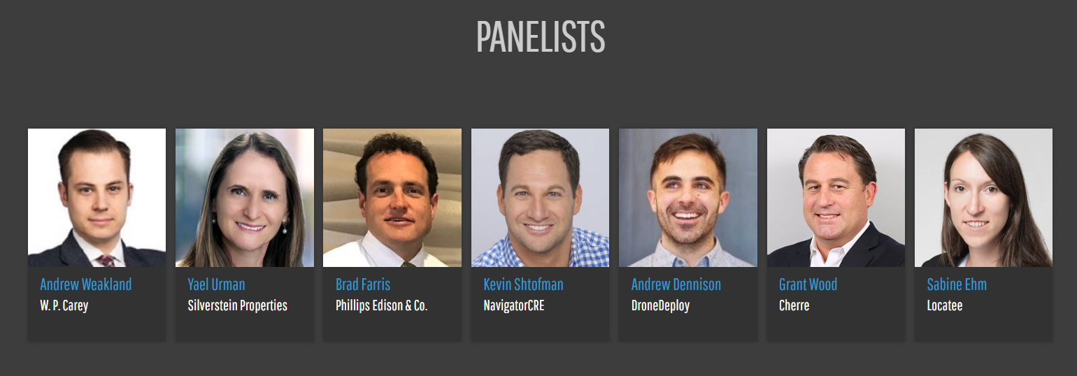Panelists at Realcomm Webinar