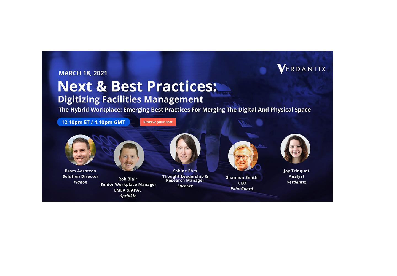 Next & Best Practices: Digitizing Facilities Management – Verdantix